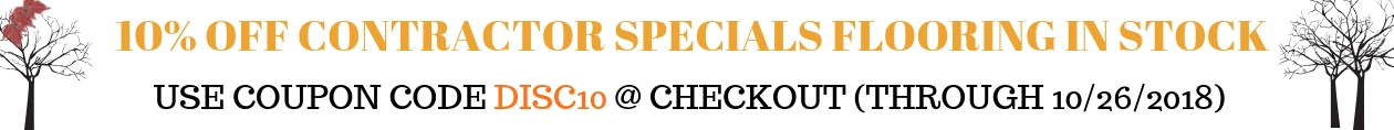 10% off Contractor Specials sale on Reserve Hardwood Flooring