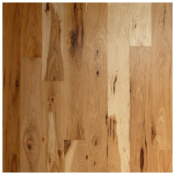 Hickory Character Unfinished Solid Hardwood Flooring
