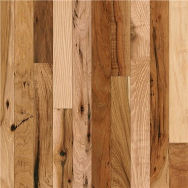 Hickory Rustic Natural Prefinished Solid Hardwood Flooring