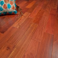 "4"" Santos Mahogany Unfinished Solid Hardwood Flooring at Wholesale Prices"