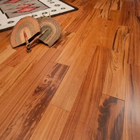 "5"" Tigerwood Prefinished Solid Hardwood Flooring at Wholesale Prices"