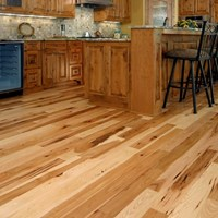 Hickory Character Natural Prefinished Solid Hardwood Flooring