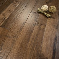 "Prefinished Hickory Hand Scraped Solid 5"" x 3/4"" Hardwood Flooring at Wholesale Prices"