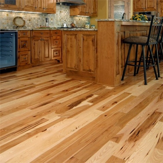 Hickory Character Natural Prefinished Solid Hardwood Flooring at Wholesale Prices