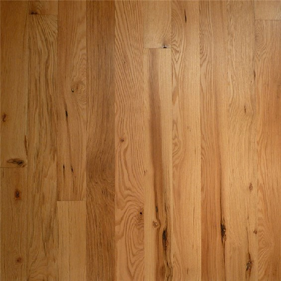 Red Oak Character Natural Prefinished Solid Hardwood Flooring