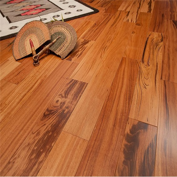 Tigerwood Clear Grade Prefinished Solid Hardwood Flooring