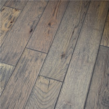 5 Quot X 3 4 Quot Hickory Hand Scraped Prefinished Solid Greystone