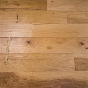 7 1 2 X 1 2 Hickory Hand Scraped Natural Prefinished Engineered