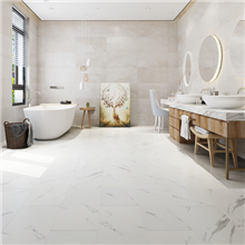 Add Floor Carrera White-Grey waterproof SPC rigid core vinyl tile floor on sale at the cheapest prices by Reserve Hardwood Flooring