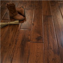"5"" x 3/4"" Hickory Character Prefinished Solid Canyon Crest Hardwood Flooring"