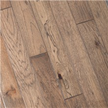 "5"" x 3/4"" Hand Scraped Hickory Greystone Prefinished Solid Hardwood Flooring at Cheap Prices by Reserve Hardwood Flooring"