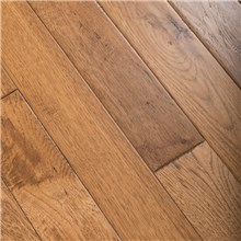 "Summer Road 5"" x 3/4"" Hand Scraped Hickory Prefinished Solid Hardwood Flooring at Cheap Prices Reserve Hardwood Flooring"