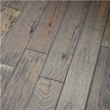 "Greystone 5"" x 3/4"" Hand Scraped Hickory Prefinished Solid Hardwood Flooring at Cheap Prices Reserve Hardwood Flooring"